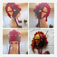 Crochet Dragon baby hats with earflap hot seller ,crochet famous baby hats.