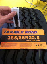 google Alibaba china DOUBLE ROAD tubeless tires 385/65R22.5 suitable for minning