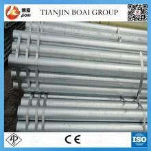 Bs 1387 galvanizado por inmersión en caliente de tubería de hierro precio para la construcción