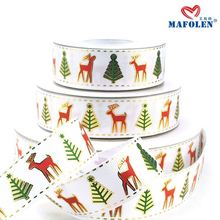personalized ink printed christmas decoration ribbon