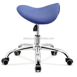 2015 Top sale comfortable saddle stool blue