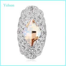Yelson cheap elegant engement ring fashion female designer diamond finger rings