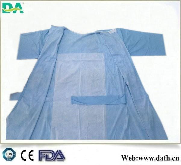 steril tek spunlace takviyeli cerrahi önlük