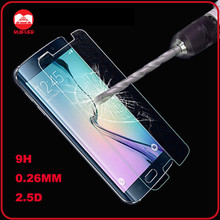 Wholesale AAA Quality 0.26mm HD Clear 2.5D 9H Hardness Tempered Glass Screen Protector for Samsung Galaxy S6 Edge