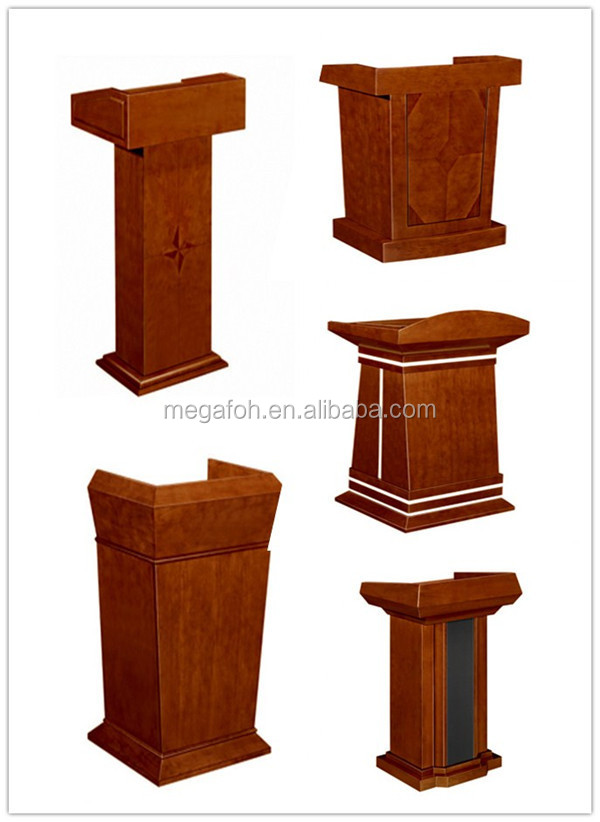 Factory price commercial furniture lecture speech table wood podium foh bt188 view wood