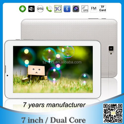7 inch IPS screen dual core tablet with sim card android tablet pc