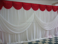 3X6M wedding event party stage decorations wall covering background curtain backdrops ice silk fabric with swag