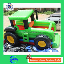 beautiful inflatable tractor bouncer inflatable bouncy castle with low price