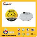 de plástico insignia de pvc círculo nombre insignia para la empresa