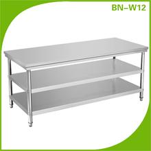 cocina de alta calidad de acero inoxidable mesa de trabajo
