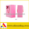 custom pink stripe art paper bags
