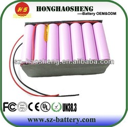 18650 li ion battery 12v 21ah rechargeable battery 3s7p electric motorcycle battery pack
