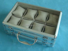 Single watch box for men,wooden watch display case,aluminum cool watch box