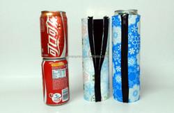 Neoprene 2pcs Can Cooler with zipper Special Price Eva Foam Hot Sale Funny