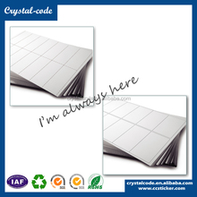 A4 color self adhesive size barcode label waterproof sticker paper price, Wholesale usps paypal 8.5x11 shipping label half sheet