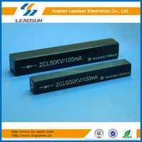 high frequency high voltage silicon assembly 2CLG30KV/0.1A for electrostatic powder coating, electrostatic flocking