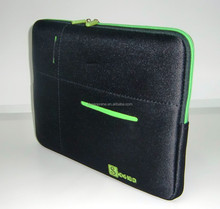 Neoprene Leatherette zipper Laptop sleeve for IPad for 13 inch Laptop