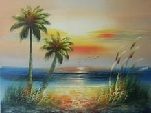 seascape island oil painting on canvas new handmade JH-402
