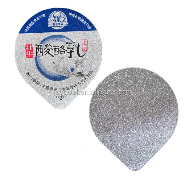 Pre Cut Aluminium Foil Lid For Yogurt Plastic Cup Embossed