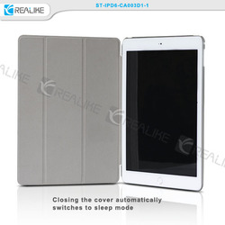 for ipad air 2 pc cover with lether cover case,slim leather case for ipad air