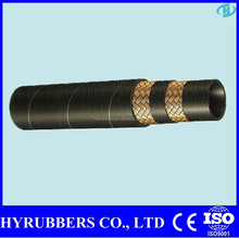 High Pressure Rubber Hoses Stainless Steel Braided Rubber Hose SAE 100 R2AT / DIN / EN 853 2SN Hydraulic Rubber Hose