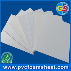 0.5g/cm3 white 4x8 pvc foam sheet 12mm thickness