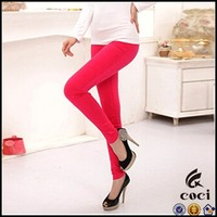 CCL163 Sexy Skinny Jeggings Stretch Plain Solid Girls Leggings