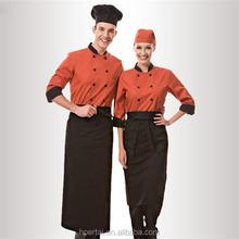Media manga uniforme del restaurante, Kithcen Chef juegos de uniformes