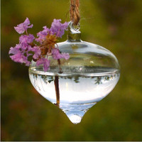 1pcs Modern simple design Clear Onion Hanging Glass Flower Plant Vase Hydroponic Container Pot Home Decoration