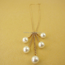 Fine Jewelry Special Offer Sale Collar, 2015 Newest Ladies Pearl Long Necklace Women, Trendy Elegant Chain Necklace