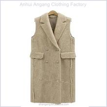 2015 fashion sleeveless lamb plush coat