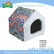 Warm cheap soft fabric custom indoor dog houses