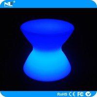 Cheap plastic LED glow light table / LED chairs and tables for bars / party LED rgb magic seat