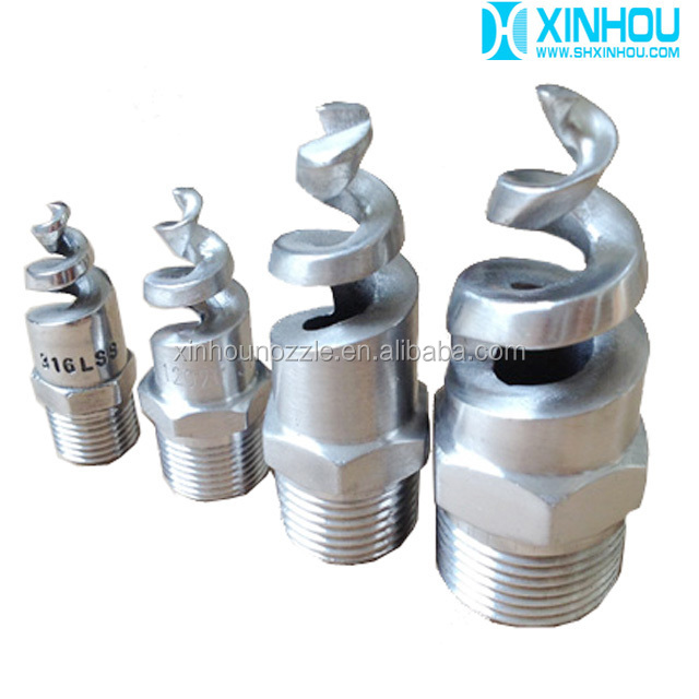 Water jet sprial washing tower dust suppression nozzles