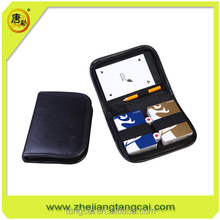 poker playing card set in leather box