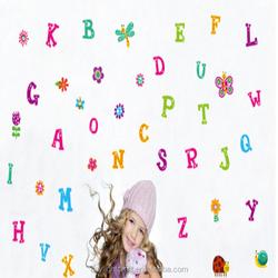 JM8322 50x70cm alphabet room decal wall sticker kids