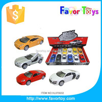 1:32 Pull back metal diecast car toy with light and music