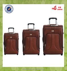 "Old designing three pcs set 19""23""26"" canton fair luggage"