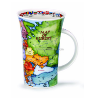 2015 ceramic tall cup with map design wholesale hunan factory