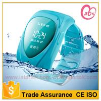 Fashion mini wrist bracelet quad band sos panic button kids gps bracelet/watch tracker for kid or elder tb007
