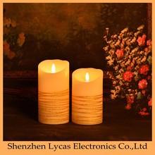 Alta calidad decoración del hogar de bambú / de madera sostenedor de vela votiva