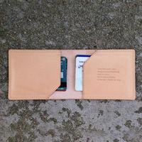 Full grain Italian vegetable tanned leather tarvel card holder genuine cow leather ATM card wallet 2014 newst item
