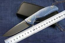 Colored anodized titanium handle folding pocket knife Shirogorov knife