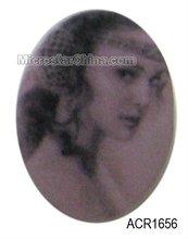 Beautiful acrylic decoration oval cabochon beads