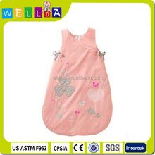 Lovely pink design cotton baby sleeping bag