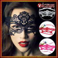 LS-004 Yiwu Caddy fashion style and good quality wholesale masquerade mask party, black lace mask