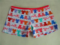 3010-2 yong little baby briefs sexy lovely bears red anti-bacterial thick cotton kids underwear for girls model good sold in CRO