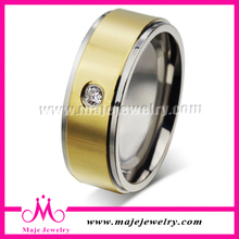 2015 new zircon ring wholesale gold ring with zircon for men