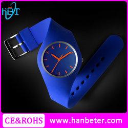 2015 Top Quality ladies popular fashion waterproof silicon watch geneva platinum silicone watch