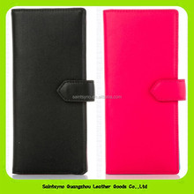 15557 New Arrival Genuine Leather Contrast Color Wallet Fashion Pink Lady Wallet